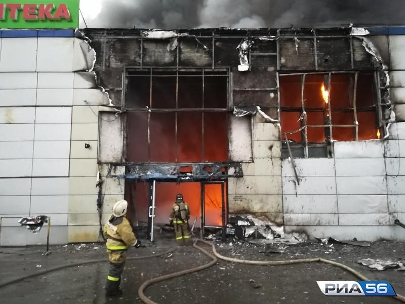 ВОренбурге эвакуировали гостей загоревшегося торгового центра