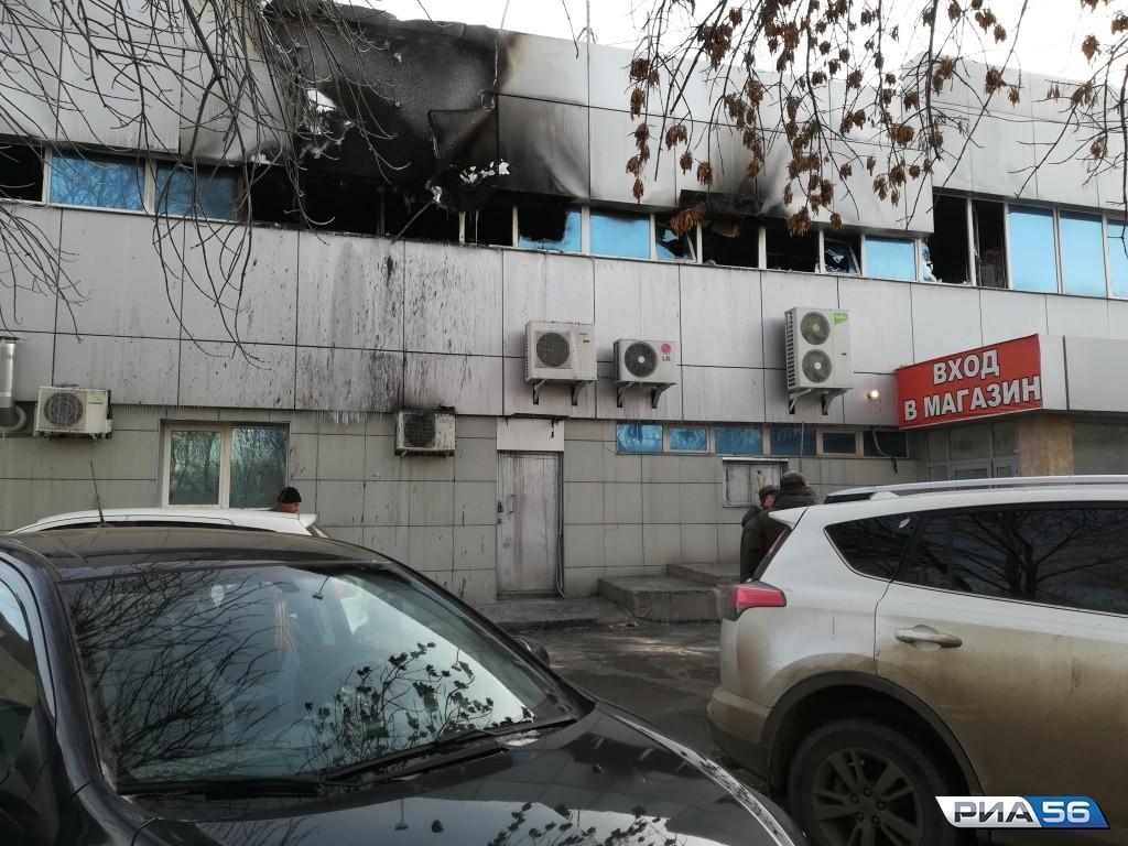 ВОренбурге ночью горел торговый комплекс «Радуга»