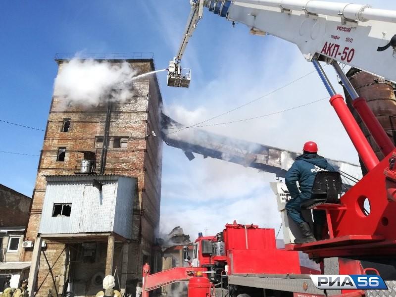 ВОренбурге появился пожар назаводе железобетонных изделий