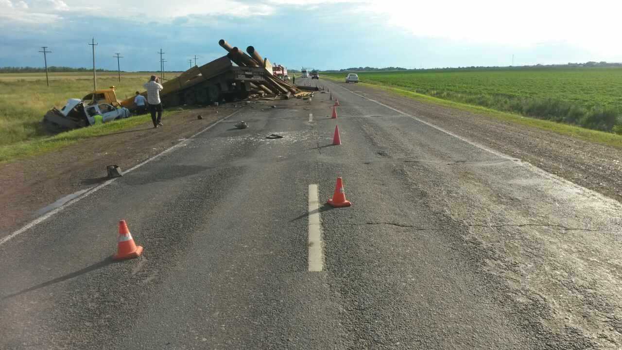 Натрассе Уфа-Оренбург произошла авария