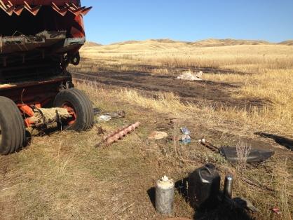 Комбайнёр изТюльганского района умер, спасая хлебное поле отпожара
