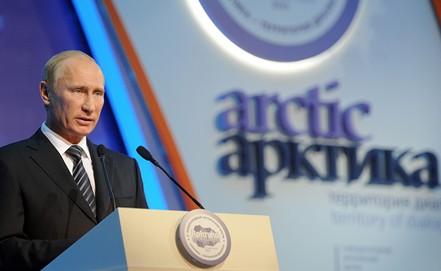 Путин сказал, что неуместно восвоении Арктики