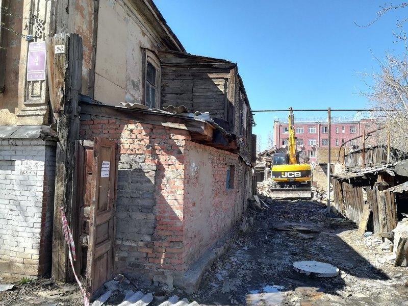 ВОренбурге наулице Корецкой рухнул личный дом