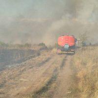 Южный в дыму: площадь пожара на Донгузской увеличилась до двух гектаров