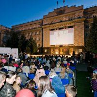 Кощей Бессмертный на Доме Советов: в Оренбурге прошла «Ночь кино»