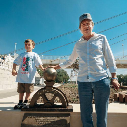 В Оренбурге установили арт-объект в честь Юрия Семина