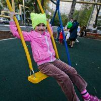 В Оренбурге открыли обновленный двор на Чкалова