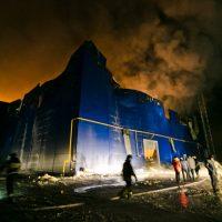 МЧС: Площадь пожара на заводе под Новосергиевкой составила 6600 квадратных метров