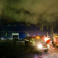 Пожар на заводе в Оренбургской области локализован