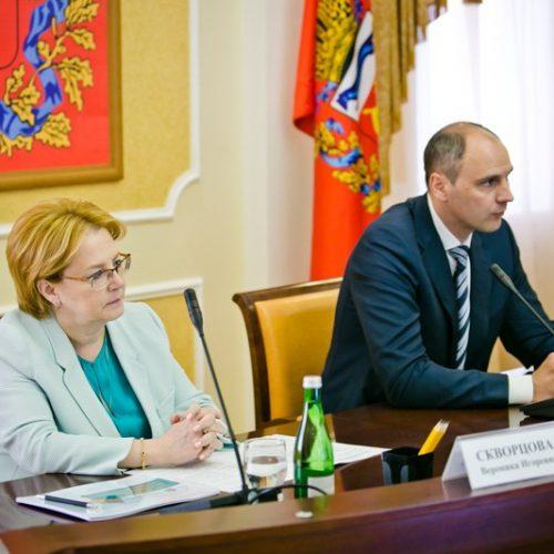 Веронике Скворцовой презентовали проекты двух областных больниц