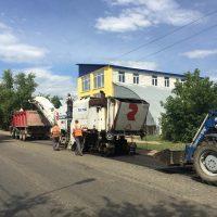 В Оренбурге начали снимать старый асфальт на улице Пролетарской
