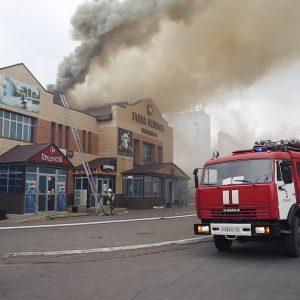 Опубликовано видео пожара в оренбургском кафе «Роза ветров»