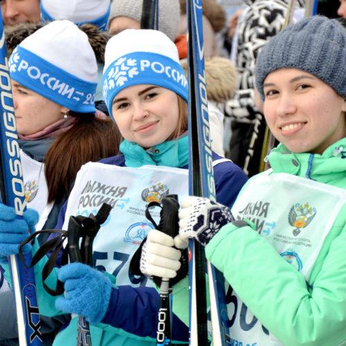 Фоторепортаж RIA56: оренбуржцы участвовали во всероссийской акции «Лыжня России»