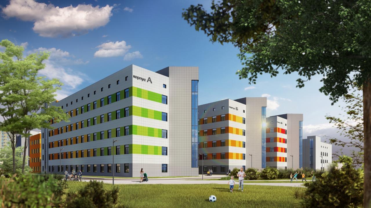 новый фасад больницы