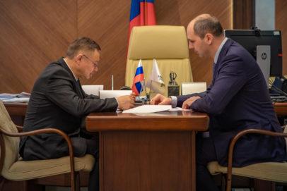 Денис Паслер обсудил с Иреком Файзуллиным обновление коммунальной инфраструктуры Оренбуржья